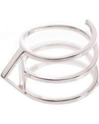 Sally Lane Jewellery - In My Defence Silver Ring - Lyst