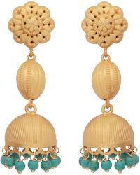 Carousel Jewels - Gold & Turquoise Chandelier Long Earrings - Lyst