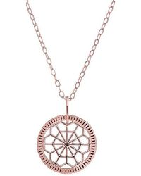 One and One Studio - Geometric Cut Out Out Disc Pendant In Rose Gold On Chain - Lyst