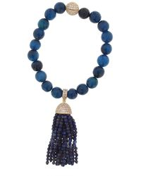 Cosanuova - Lapis Tassel Bracelet - Lyst