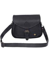MAHI Classic Saddle Bag In Black Leather
