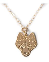 Amundsen Jewellery - The Wolf Necklace - Lyst