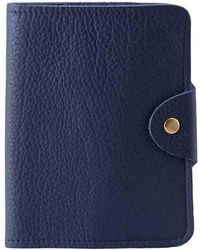 N'damus London - Luxury Italian Leather Blue Passport Cover - Lyst