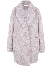 Paisie - Fluffy Teddy Bear Coat In Lilac - Lyst