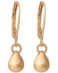 Edge Only - Teardrop Earrings In 14ct Gold - Lyst
