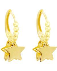 Talia Naomi - Shimmering Multi Gold Star Sleeper Hoops - Lyst