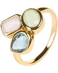 LÁTELITA London - Venice Multi Gemstone Ring Gold - Lyst