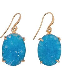 Magpie Rose - Blue Raw Druzy Earrings - Lyst