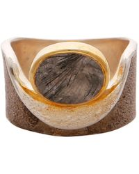 e2a54c9ea Carousel Jewels - Rutile Quartz Gold And Silver Pocket Ring - Lyst