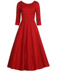 MATSOUR'I - Jacquard Dress Alyzee Red - Lyst