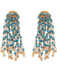 Carousel Jewels - Turquoise Waterfall Earrings - Lyst