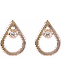 Matthew Calvin - Diamond Mini Point Studs Gold - Lyst