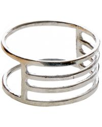 KIND - Silver Eclipse Ring - Lyst
