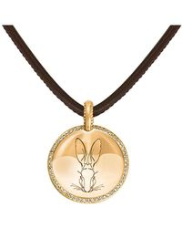 Hargreaves Stockholm - Bracteate Gold & Diamond Pendant - Lyst
