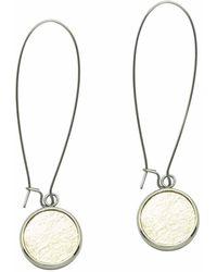 N'damus London - Silverdale Gold Leather & Steel Drop Earrings - Lyst