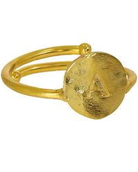 Ottoman Hands - Gold Initial Ring - Lyst