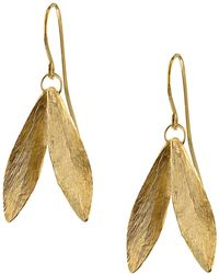 Catherine Zoraida - Double Leaf Earring - Lyst
