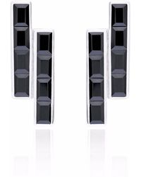 Neola - Equilibrium Sterling Silver Earrings Black Onyx - Lyst