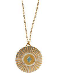 Bark - Gold Sunburst Necklace - Lyst