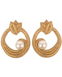 Wafa By Wafa - Gold Celeste Earrings - Lyst