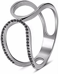 Cosanuova - Prater Diamond Ring 18k Black Gold - Lyst