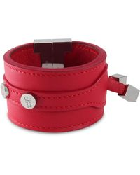 Tissuville - Solo Bracelet Red Silver - Lyst