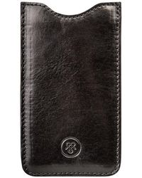 Maxwell Scott Bags - Quality Black Leather Samsung Galaxy S7 Phone Sleeve The Sasso - Lyst
