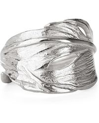 Chupi - Swan Feather Ring In Silver - Lyst