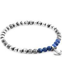 Anchor & Crew - Blue Sodalite Keel Silver & Stone Bracelet - Lyst