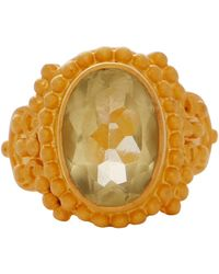 Carousel Jewels - Intricate Lemon Topaz Cocktail Ring - Lyst