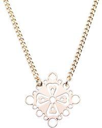 Mademoiselle Felee - Barcelona Familia Cross Necklace Gold - Lyst