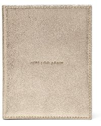 Thacker NYC - Globetrotter Passport Case Vintage Gold - Lyst