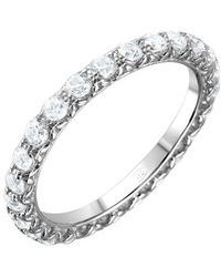 Cosanuova - Sterling Silver Round Cz Eternity Band - Lyst