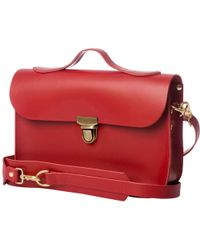 N'damus London - Small Trilogy Red Leather Rucksack & Satchel - Lyst