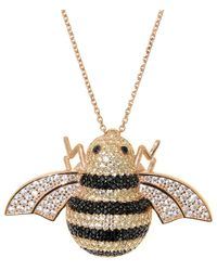 Cosanuova - Sterling Silver Busy Bee Necklace - Lyst