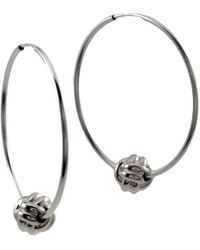 MARIE JUNE Jewelry - Monkey Paw Knot Silver Hoops - Lyst