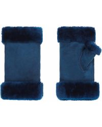Gushlow and Cole - Electric Blue Fingerless Mittens - Lyst