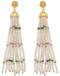 Carousel Jewels - Pearl Rose Quartz & Green Onyx Waterfall Earrings - Lyst