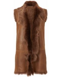 Gushlow and Cole - Hazel Long Line Rough Cut Gilet - Lyst