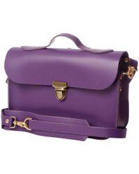N'damus London - Small Trilogy Purple Leather Rucksack & Satchel - Lyst