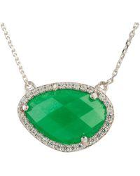 LÁTELITA London - Sofia Green Onyx Gemstone Necklace Silver - Lyst
