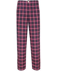 Law of Sleep - Theodore Pyjama Trousers Red - Lyst