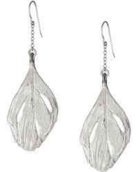 Chupi - Maxi Swan Feather Earrings Silver - Lyst