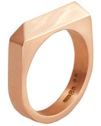 Edge Only - Rooftop Ring In 14ct Gold - Lyst
