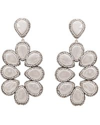 Carousel Jewels - Mother Of Pearl And Silver Statement Earrings - Lyst