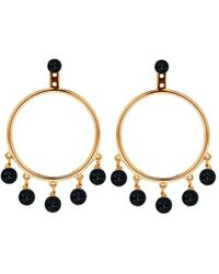 Eshvi - Capsule Black Earrings - Lyst