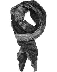 lords of harlech - Patchwork Camo Scarf In Charcoal - Lyst