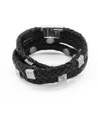 Tissuville - Brio Bracelet Black Silver - Lyst