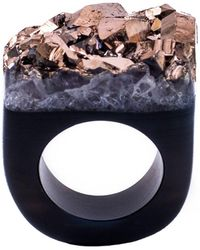 Tiana Jewel - Ember-metallic-rose-gold-ring-moro-collection - Lyst