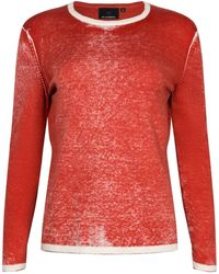 NY CHARISMA - Red Cotton Hand Print Pullover - Lyst